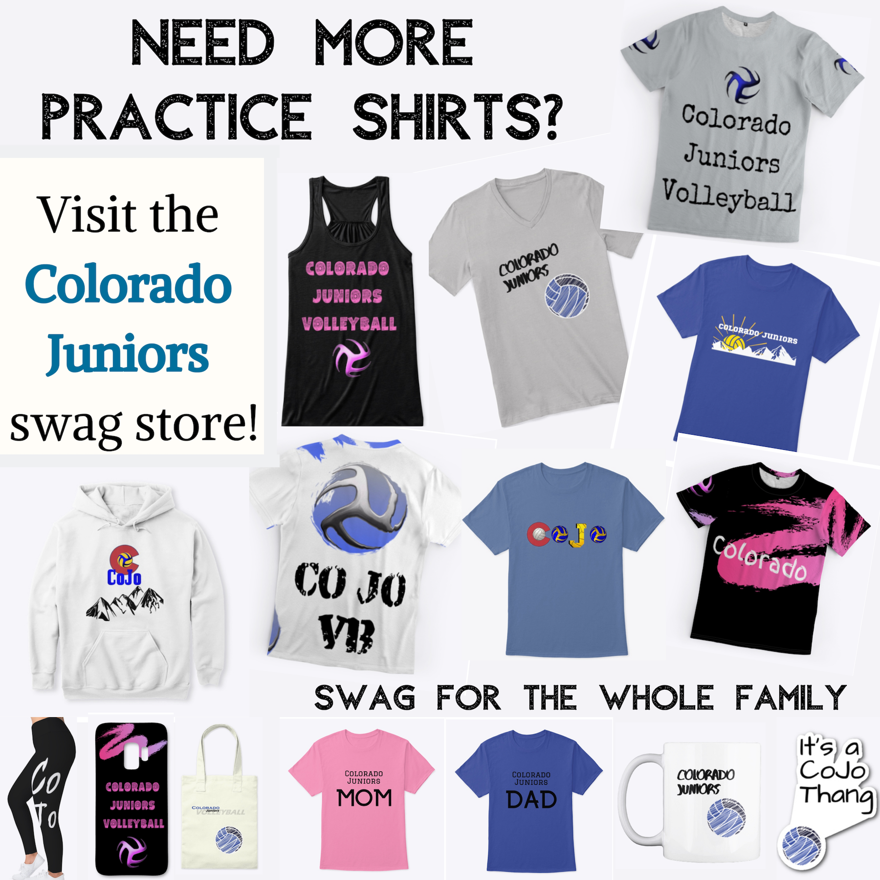 Need more practice shirts?